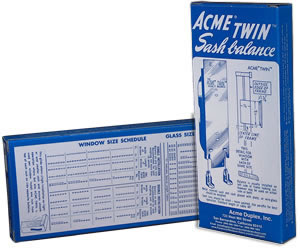 cme Twin™ sash balances